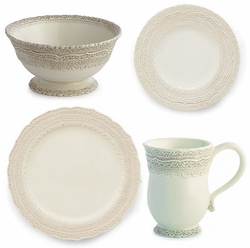 PRE-ORDER - Finezza Cream 4-Piece Place Setting - Arte Italica