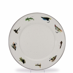 Set of 4 - Fishing Fly Dinner Plate by Golden Rabbit
