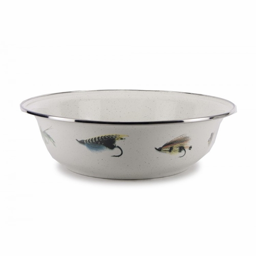 Fishing Fly Serving Bowl by Golden Rabbit