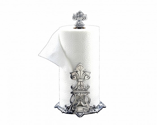Fleur de Lis Paper Towel Holder by Arthur Court