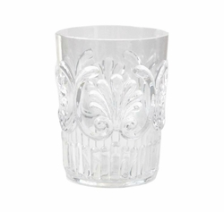 Fleur Glassware Clear Small Tumbler by Le Cadeaux - Preorder - Available Mid February