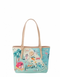 Florida Small Tote with Zipper - Oh So Witty by Spartina 449