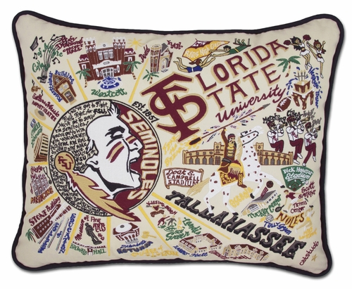 Florida State University XL Embroidered Pillow by Catstudio (Special Order)