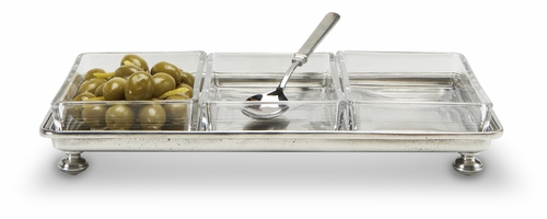Footed Crudite Tray by Match Pewter