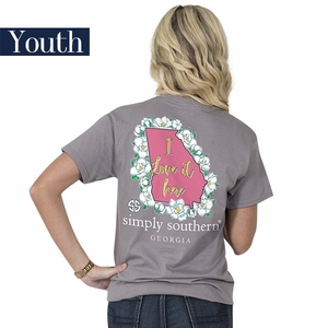 Georgia I Love it Here Short Sleeve Tee - YOUTH by Simply Southern