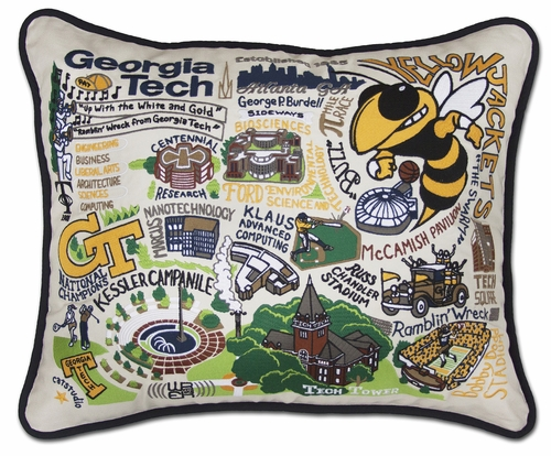 Georgia Tech XL Embroidered Pillow by Catstudio (Special Order)