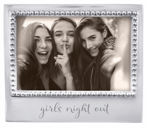 """Girls Night Out"" Beaded 4"" x 6"" Frame by Mariposa"