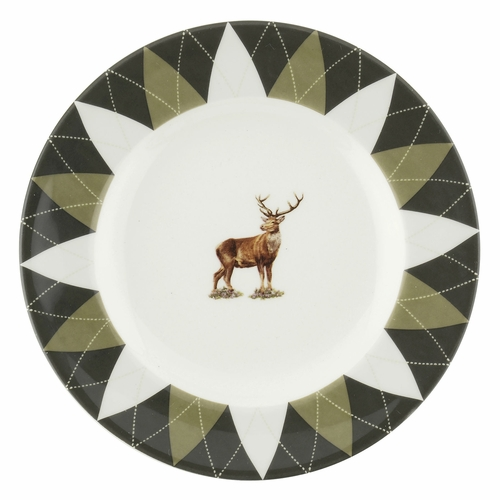 Glen Lodge Set of 4 Stag Argyle Bread And Butter Plates by Spode