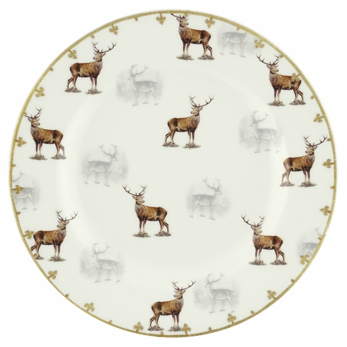 Glen Lodge Set of 4 Stag Salad Plates by Spode