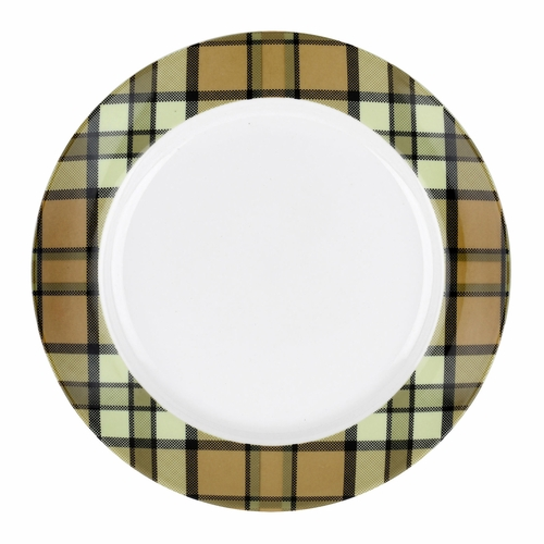 Glen Lodge Set of 4 Tartan Tan Dessert Plates by Spode