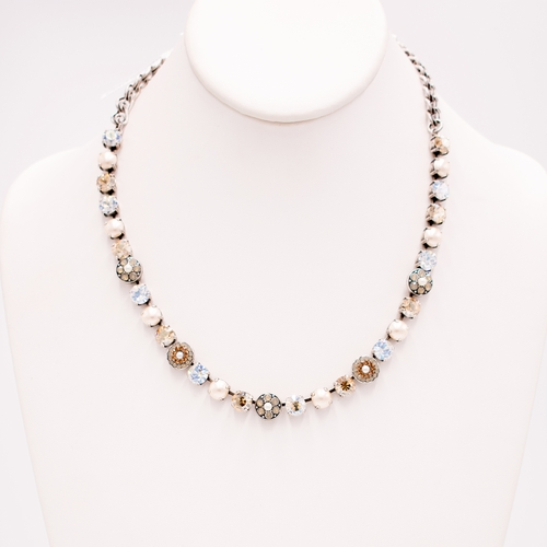 Glisten Champagne and Caviar Necklace by Mariana Jewelry