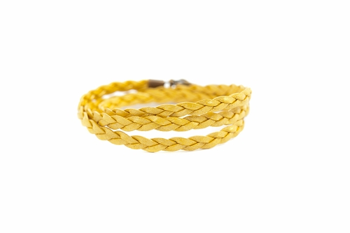 Goldenrod Braided Wrap - Lenny & Eva