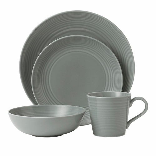 Gordon Ramsay Maze Dark Grey 4-Piece Set by Royal Doulton
