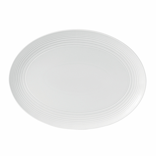 "Gordon Ramsay Maze White 17"" Oval Platter by Royal Doulton - Available January 2020"