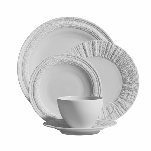 Gotham White 5-Piece Place Setting by Michael Aram