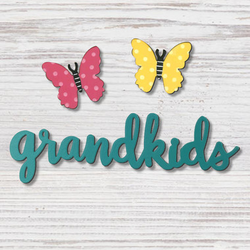 Grandkids with Butterfly Magnet  - Roeda