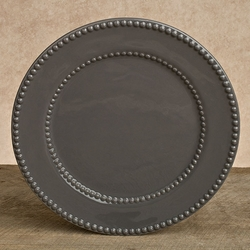 Gray 11in Livingstone Dinner Plate - Set of 4 - GG Collection