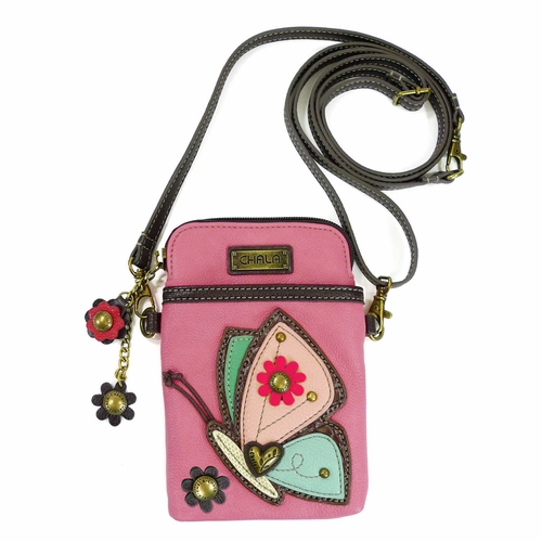 Guava Butterfly Cell Phone Crossbody