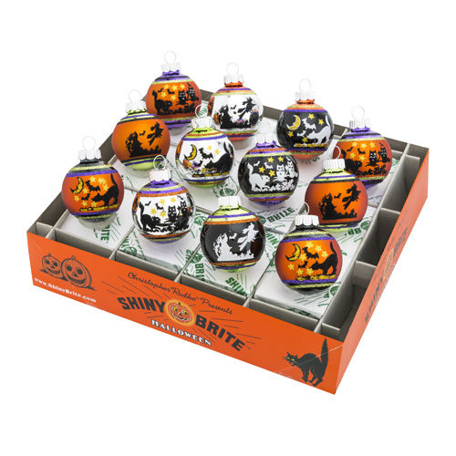 "Halloween 1.75"" Signature Flocked Ombre (Set of 12) (Available Sept.)"