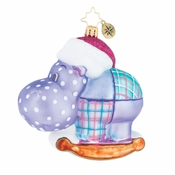 Happy Holiday, Hippo! Ornament by Christopher Radko