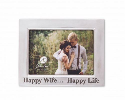 "Happy Wife Classic 5"" x 7"" Photo Frame by Arthur Court"