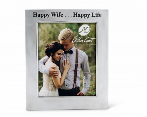 "Happy Wife Classic 8"" x 10"" Photo Frame by Arthur Court"