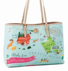 Hawaiian Islands Tote - Oh So Witty by Spartina 449