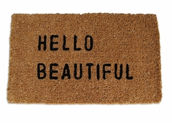 Hello Beautiful Door Mat by Sugarboo Designs