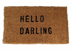 Hello Darling Door Mat by Sugarboo Designs