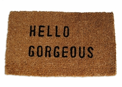 Hello Gorgeous Door Mat by Sugarboo Designs