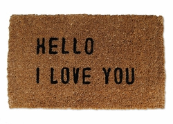Hello I Love You Door Mat by Sugarboo Designs