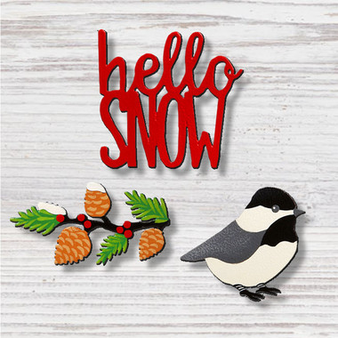 Hello Snow with Bird Magnets  - Roeda