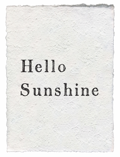 Hello Sunshine Handmade Paper Print by Sugarboo Designs