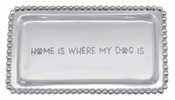 Home Is Where My Dog Is Beaded Tray by Mariposa