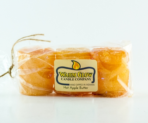 Hot Apple Butter 3-pack Votive by Warm Glow Candles