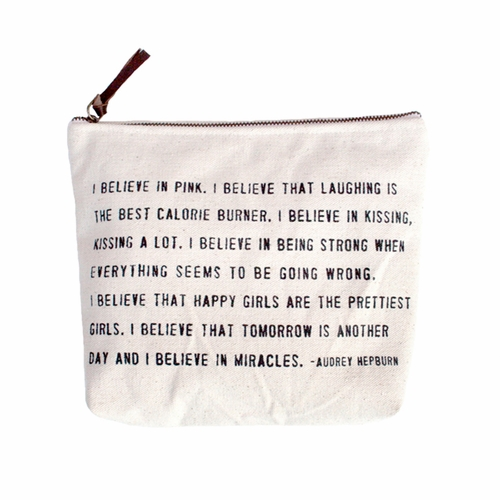I Believe In Pink Canvas Bag by Sugarboo Designs