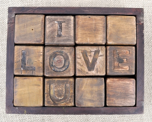 I Love You Blocks by Sugarboo Designs