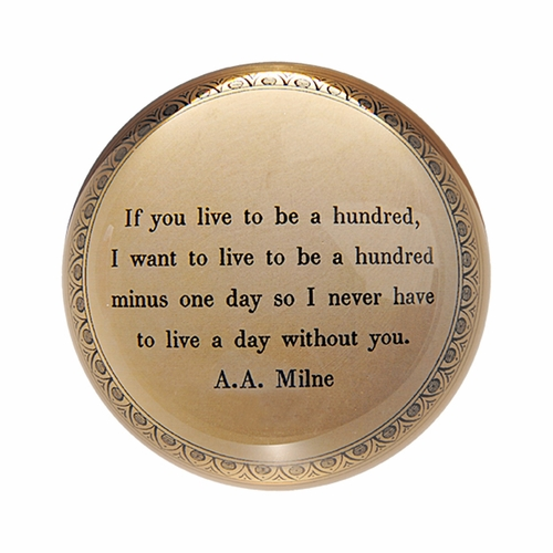 If You Live To Be A Hundred Paper Weight (Set of 2) by Sugarboo Designs