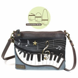 Indigo Piano Mini Crossbody Purse