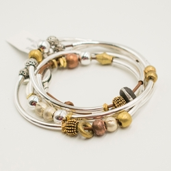 Infinity Gloss Light Brown Large Bracelet by Lizzy James