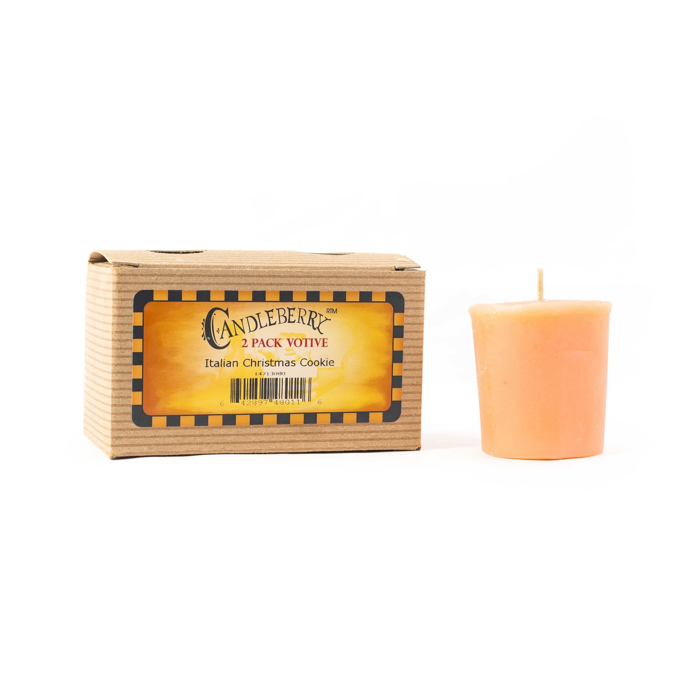 Italian Christmas Cookie 2-Pack Votive by Candleberry
