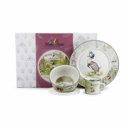 Jemima Puddle-Duck 3-Piece Child Gift Set by Golden Rabbit