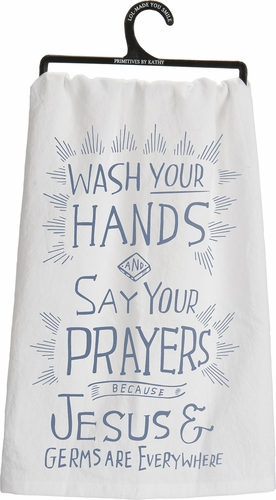 Jesus & Germs Dish Towel - Primitives by Kathy