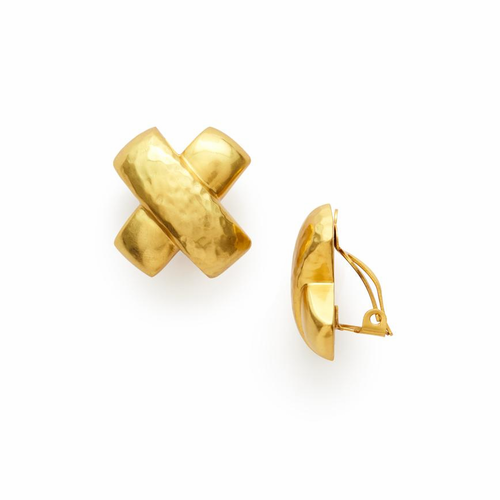 Julie Vos Catalina Earring - Clip-On -Gold
