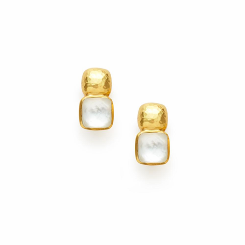 Julie Vos Catalina Earring -Iridescent Clear Crystal