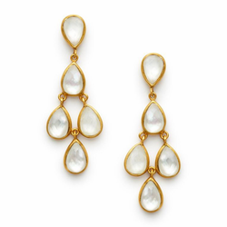 Julie Vos Clara Earring -Iridescent Clear Crystal