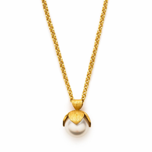 Julie Vos Penelope Pendant Necklace -Pearl