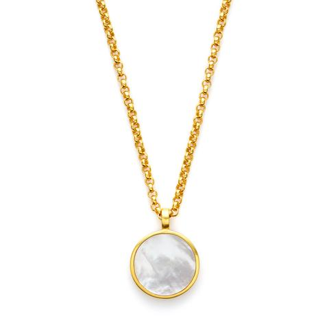 Julie Vos Valencia Pendant Necklace - Mother of Pearl