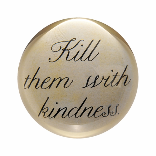 Kill Them With Kindness Paper Weight (Set of 2) by Sugarboo Designs