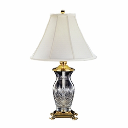 """Killarney Polished Brass 26"""" Table Lamp by Waterford - Special Order"""